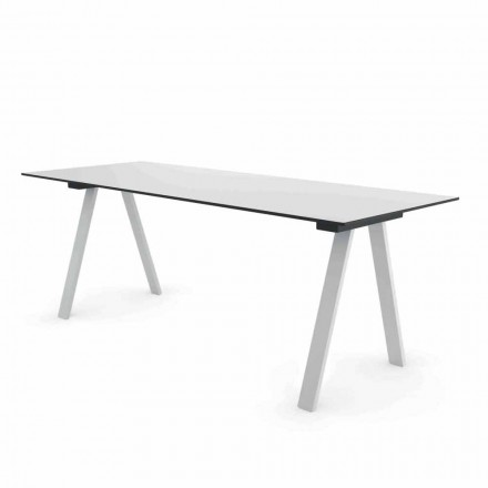Moderne udendørs designbord i metal og HPL fremstillet i Italien - Denzil
