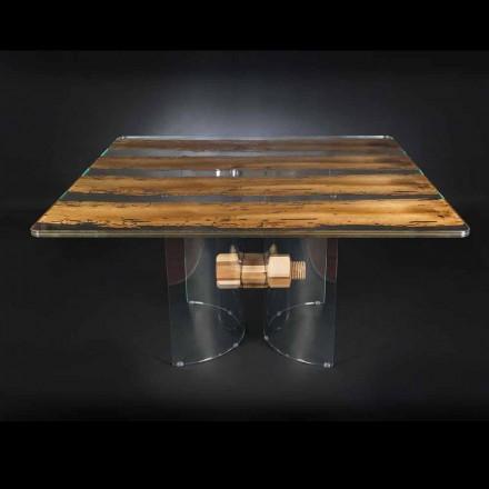 Moderne i venetiansk glas og træ bord Briccola