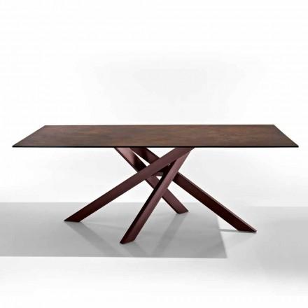 Moderne bord i glaskeramisk kogeplade og metal lavet i Italien, Dionigi