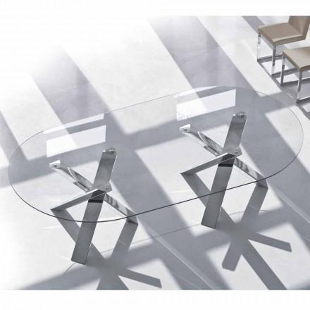 Oval designbord i krystal 280x120cm lavet i Italien Tree