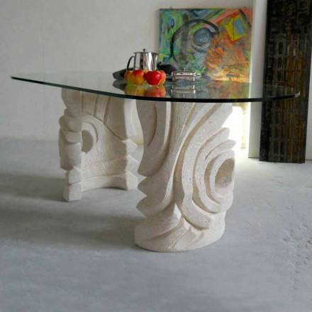 ovale sten bord med moderne design krystal Furies