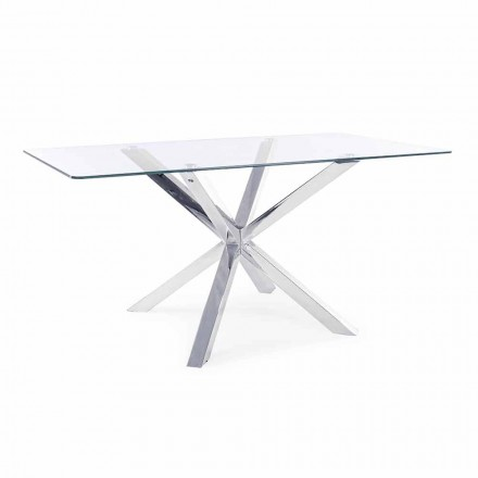 Homemotion spisebord med hærdet glasplade - Denda