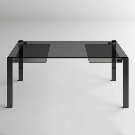 Udtrækkeligt spisebord op til 280 cm med glasplade Made in Italy - Melo
