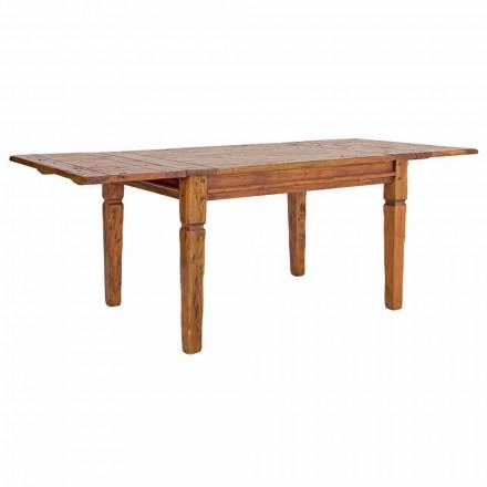 Klassisk udtrækkeligt bord op til 290 cm i massivt træ Homemotion - Carbo