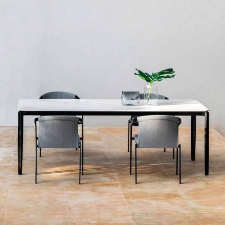 Have spisebord i aluminium og Hpl eller Gres, forskellige finish - Filomena