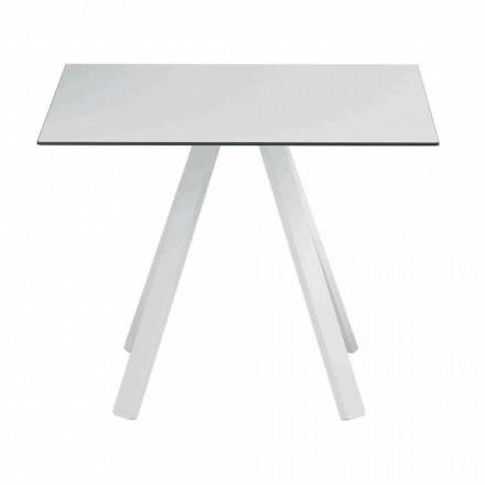 Firkantet udendørs bord i metal og HPL fremstillet i Italien - Deandre