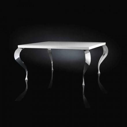 Fast bord design firkantet MDF og Luigi forkromet stål