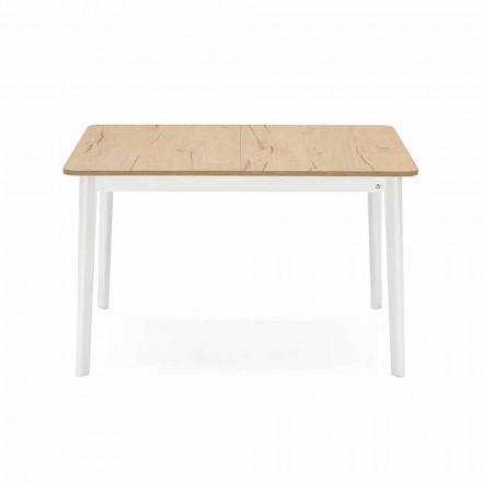 Rektangulært udtrækkeligt bord op til 170 cm i træ lavet i Italien - spisestue