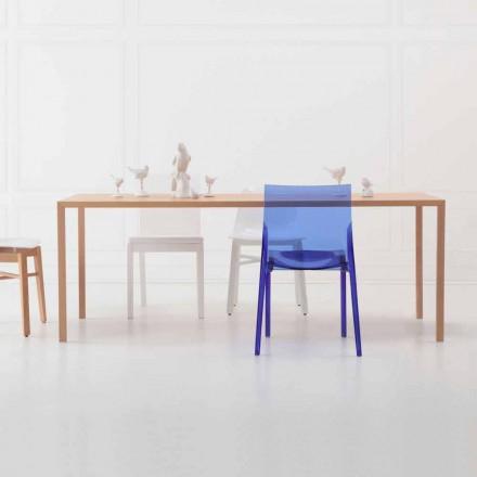 Moderne design rektangulært spisebord i naturligt egetræ - Smart