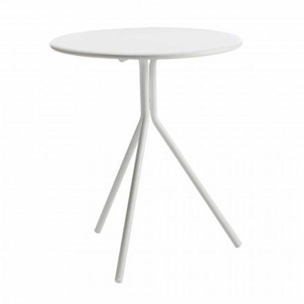 Rundt udendørs bord i moderne malet metal fremstillet i Italien - Gobi