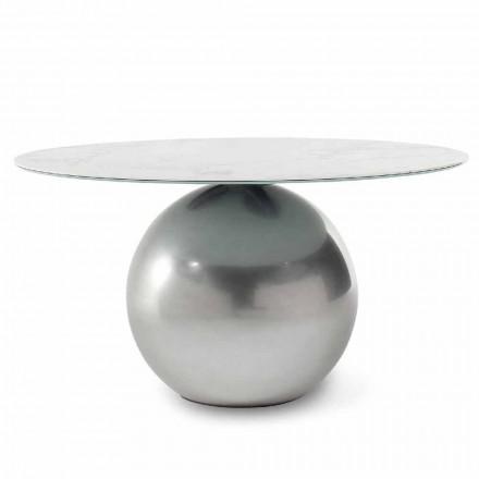Rundt keramisk bord med metalbase fremstillet i Italien - Bonaldo Circus