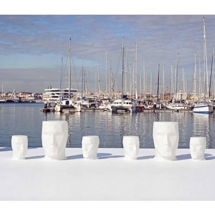 Moderne udendørs ansigtsformet bord Adan af Vondom, i polyethylen