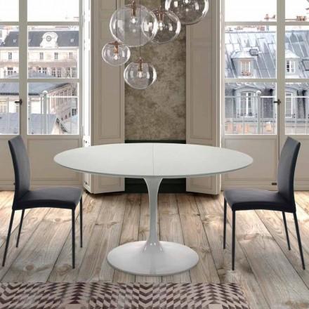 Udvideligt rundt bord op til 170 cm i lamineret fremstillet i Italien - Dollars