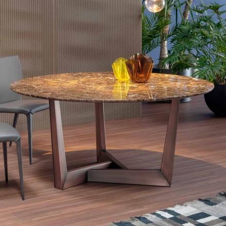 Rundt bord i marmor og metal fremstillet i Italien - Bonaldo Art