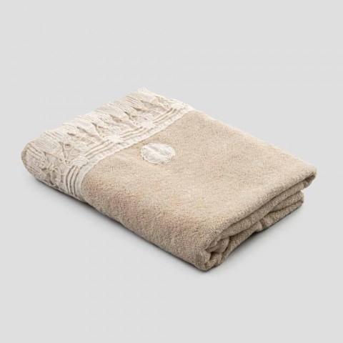 Badehåndklæde af bomuldsfrotté med italiensk luksus kvastblonder - Arafico