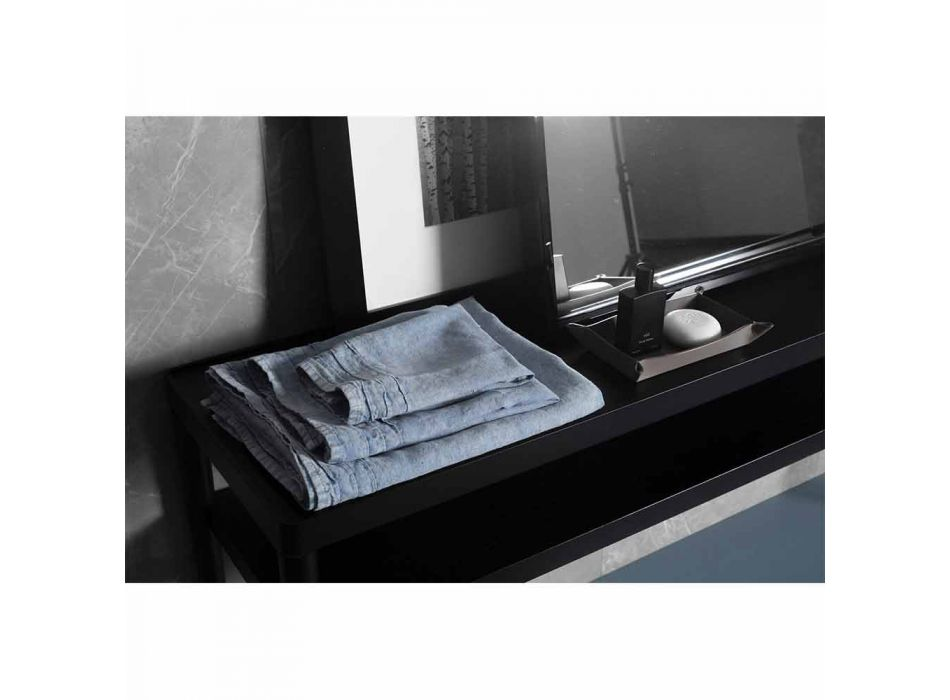 Lyseblåt, kraftigt linned, badehåndklæde, italiensk luksusdesign - Jojoba