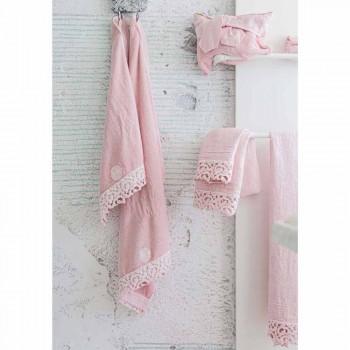 Badehåndklæde med kraftigt linned med Poema-blonde, italiensk kvalitet, 2 farver - Slot