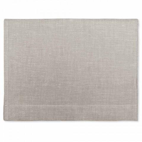 Badehåndklæde i ren creme eller naturlig hvid linned Lavet i Italien - velsignet
