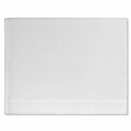 Badehåndklæde i fløde eller naturligt hvidt rent linned fremstillet i Italien - velsignet