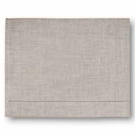 Moderne badehåndklæde i creme hvidt eller naturligt linned fremstillet i Italien - Chiana