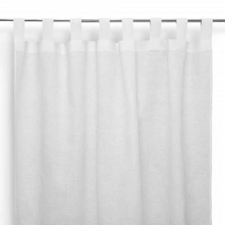 Stangtæppe i rent fløde hvidt linned fremstillet i Italien - højtidelig