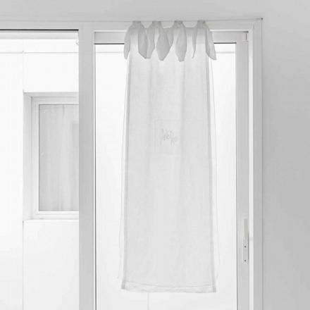 Gardin med linnegas og hvid organza af elegant design - Tapioca