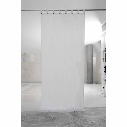 Hvid linnedæppe med luksuriøse italienske kvalitetsknapper - Gorgia