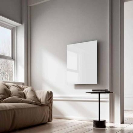 El-radiatorer infrarød stråler design i hvidt glas Clear