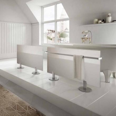El-radiatorer fra moderne design gulv i Star hvidt glas