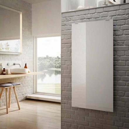 El-radiatorer i Star design hvidt glas, lavet i Italien