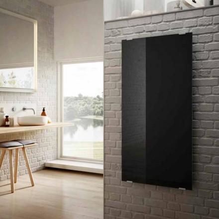 El-radiatorer i moderne design stjerne sort glas, lavet i Italien