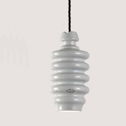 TOSCOT Battersea lampe hvid keramisk suspension