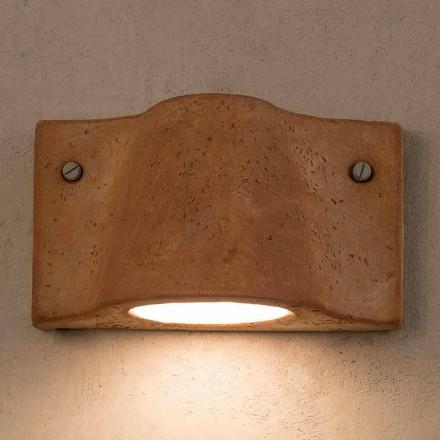 Toscot Lido indendørs / udendørs terracotta væglampe lavet i Italien