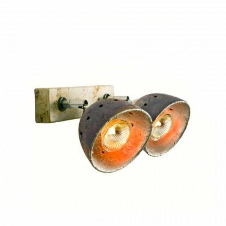 TOSCOT Noceto reglette to retningsbestemte lamper lavet i Toscana