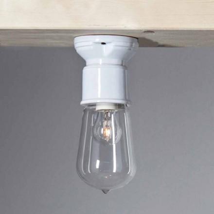 TOSCOT tyvende århundrede moderne loftslampe terrakotta og glas