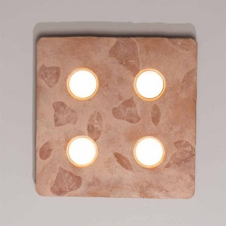 Toscot Vivaldi design væglampe i terracotta lavet i Italien