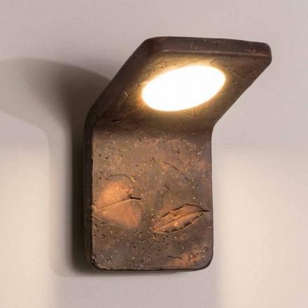 Toscot Vivaldi håndlavet terracotta væglampe i Italien