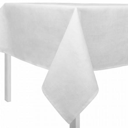 Rektangulær eller firkantet creme hvid dug lavet i Italien - Blessy