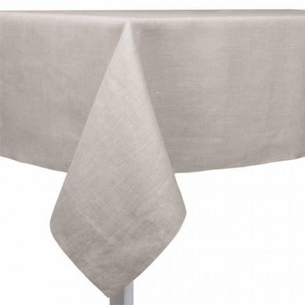 Naturlig, rektangulær eller firkantet linnedduk fremstillet i Italien - valmue