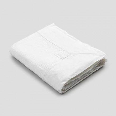 Rektangulær linnedug med kant eller hvid blonder, luksuriøst design - Davinci