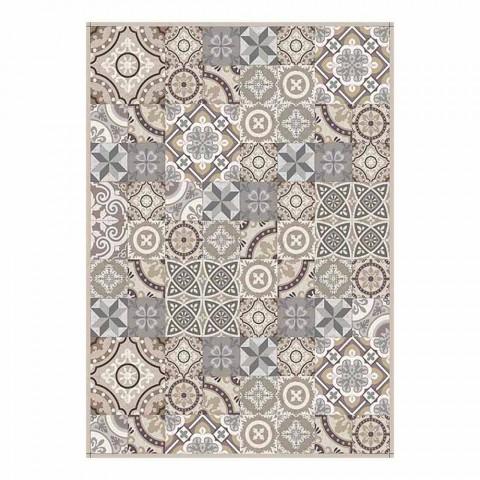 Amerikansk placemat i PVC og vaskbar moderne polyester, 6 stykker - Malia
