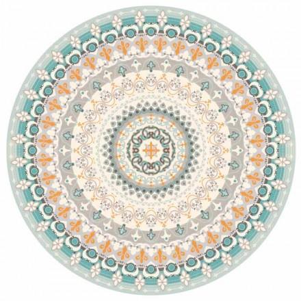Round Design amerikansk placemat i PVC og polyester, 6 stykker - Rondeo