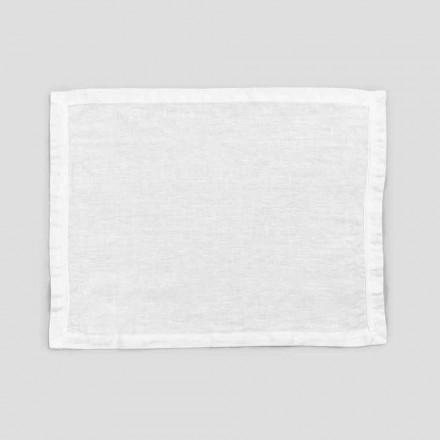 2 rene hvide linnedborde med kant eller blonder, Design Made in Italy - Davincino