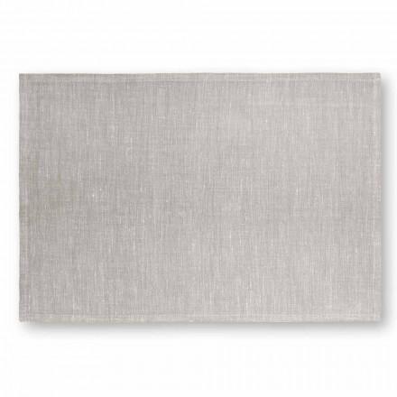Placemat i creme hvidt eller naturligt linned fremstillet i Italien - velsignet