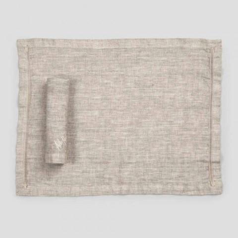 Amerikanske dækkeservietter og linned-servietter 2 stykker - Maccanone