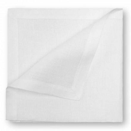 Naturligt eller fløde hvidt linned serviet fremstillet i Italien - valmue
