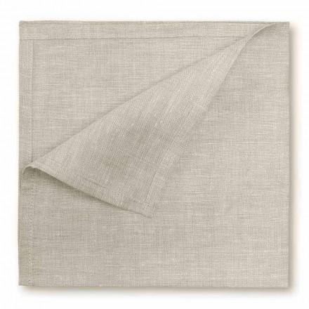 Naturligt eller fløde hvidt, rent linned serviet fremstillet i Italien - velsignet