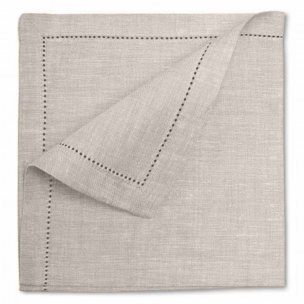Hvidt eller naturligt linned serviet fremstillet i Italien - Chiana