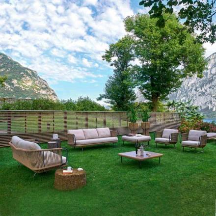 Varaschin Babylon moderne haven lounge i aluminium og reb