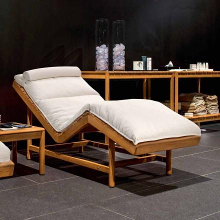 Varaschin Stregkode moderne have seng / indendørs teak